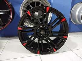 Velg hsr model Sirius R18 H5*100/114 Black red