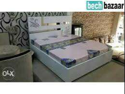 sale sale buy new double bed with box 6500/- EMI  available