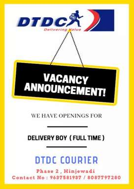 DELIVERY PERSON FOR DTDC COURIER
