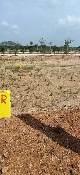 Commercial open plots in yadagirigitta 1 km from Temple backside