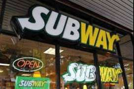 Subway process urgent hiring for Delivery boys/KYC Executives/ CCE .