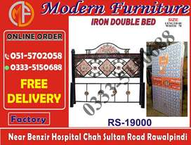 King Size Bed in Iron