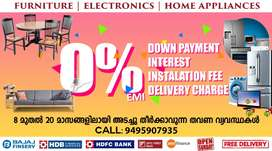 Furniture & Electronics at 0% EMI in PALLIMUKKU with Free Delivery