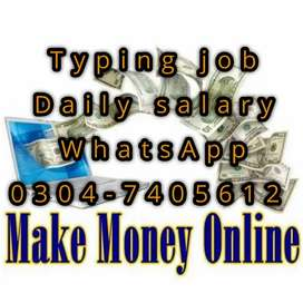 Home based typing job opportunity for students on daily basis. 4648