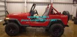 Red modified  stylish  jeep