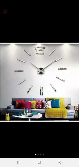 3D Giant Wall Clock - Jam Dinding  WT0025
