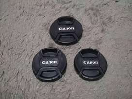 Tutup lensa canon 49mm 52mm 58mm new