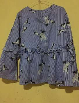 Blouse strip Flamingo By myoutfit