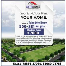 Plot @7000/- per sq yards, pay in one year