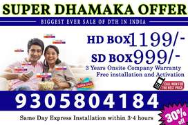 Tata sky new DTh connection .Best price in All over INDIA