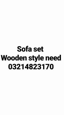 Used sofa chair set sale kren.7 seater sofa or anyelse. 6 chairs set