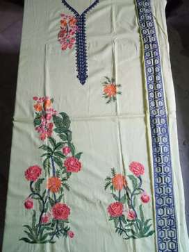 3 pc lawn full embroidery suit