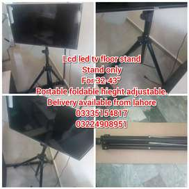 Lcd led tv portable floor stand