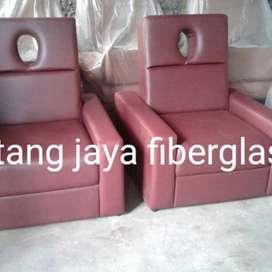 kursi refleksi atau kursi pijat manual burgundy