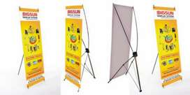 Standee flex stand standy publicity display printing vinyl sign