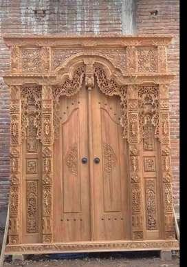 Pintu gebyok ukir tamara