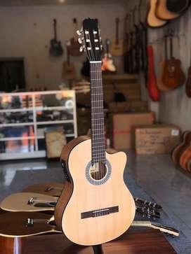 Gitar Nylon Cowboy Elektrik Nyaman buat Belajar