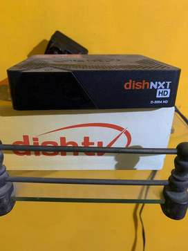 Dish tv setup box with all accessrioes