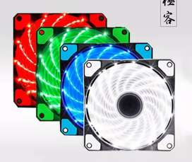 PTC FAN CASING 12CM WITH LED / FAN CASE 12 CM COLORS LAMPU