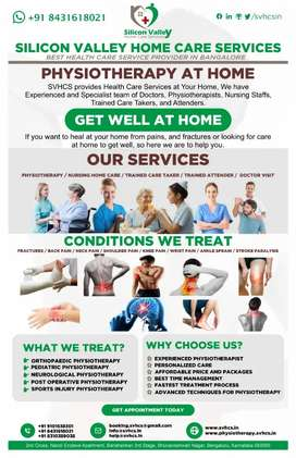 Physiotherapy, home nurse, yoga therapist available for house visit