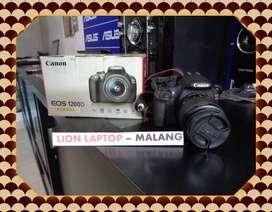 Second Kamera DSLR CANON EOS 1200D Fullset Kit 18-55mm IS III