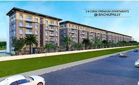 At Bachupally 2 & 3 BHK Flats for sale