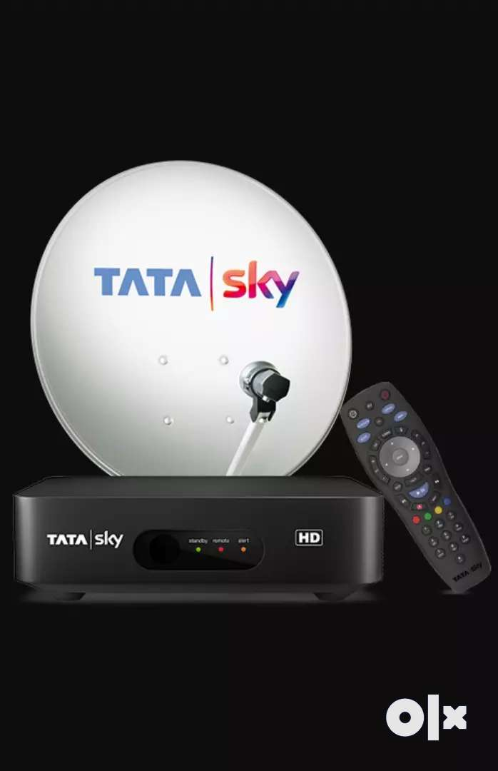 Tata sky set up box with dish and remote 0