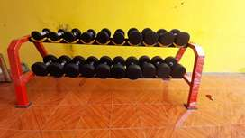 dumbell set rubber