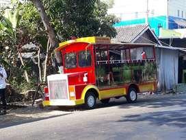 kereta mini wisata odong odong edukasi AR lampu led hias warna