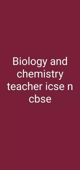 Online and home tution for biology, chemistry