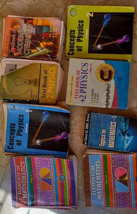 Physics , chemistry , mathematics, HC VERMA BOOKS ( 12th)
