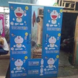 Home industri Lemari pintu 3 Berkarakter Doraemon. Bisa COD