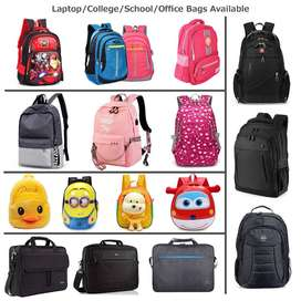 Laptop, School, College, Office Bags Available