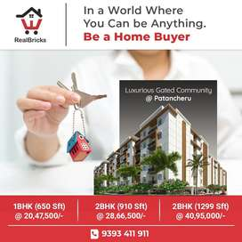 #Patancheru 1,2 BHK FLATS in Gated Community Apartments