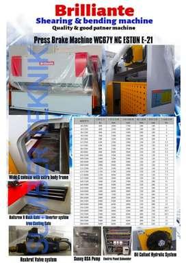 Mesin tekuk plat 160ton x 3200, NC estun e21, ready stock buruan.real.