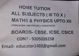 Home tuition/Private tuition