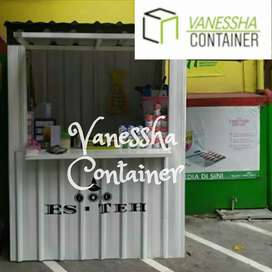 BOOTH SEMI CONTAINER /CONTAINER ANGKRINGAN KEDAI/ CAFE BOOTH CONTAINER
