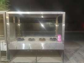 Cooking Counter for sale with 4 burnersurners