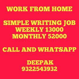 Simple Novel book writing weekly 13000 salary