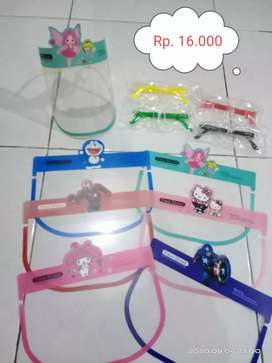 Face shield anak-anak karakter