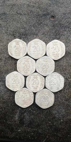 Collection of 20 Paisa Coins For sale