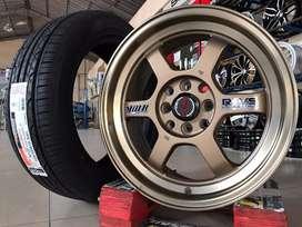 Jual velg mobil Nissan March,Livina Type-> VOLK RAYS R16X78 H8X100-114