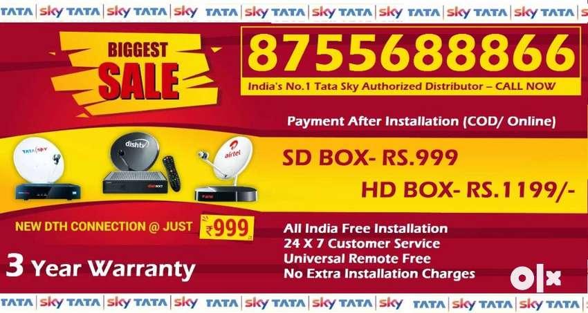 Buy Now! New Tata Sky DTH - Dish TV Airtel Dishtv Tatasky Videcon D2H 0