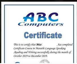 Marathi Speaking Classes