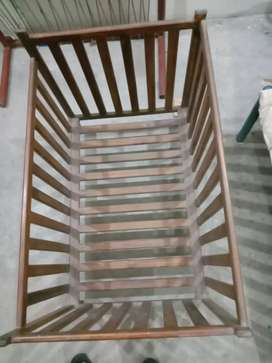 Baby Cot In Solid Wooden.