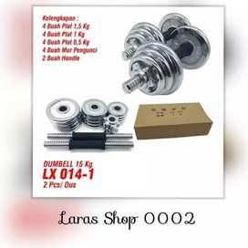 Dumbell Set Chrome Barbel 20 Kg // Coulappa 17K45