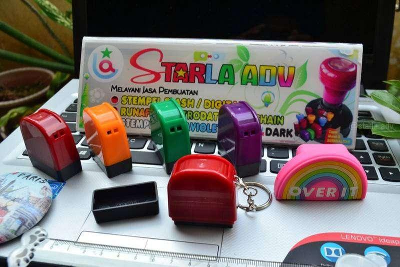10 Menit Jadi Stempel Warna Stamp Online cukup WA saja bisa di Gosend