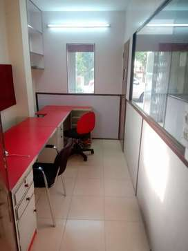 600 sqft fully furnished office in Bani park