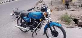 Yamaha rx100full. Modifi new tires