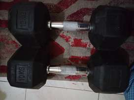 Used Dumbells 10kg Pair in good condition